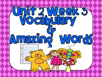 Reading Street (Unit 2 Week 3) Vocabulary Pack