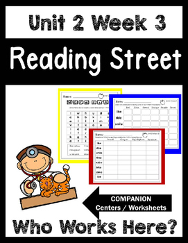Reading Street. Unit 2 Week 3. Who Works Here? Centers/Foc