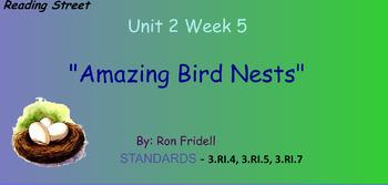 Reading Street Unit 2 Week 5: Amazing Birds Nests