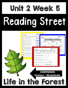 Reading Street.Unit 2 Week 5. Life in the Forest! Centers/Focus Wall/Handwriting