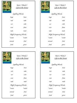 Reading Street Unit 2 Week 5 Spelling Packet