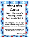 Reading Street Unit 2 Word Wall  Spelling, Sight & Amazing words