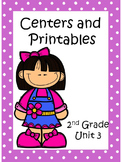 Reading Street, Unit 3, 2nd Grade, Centers and Printables