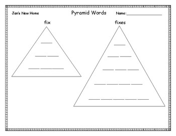 Reading Street Unit 3.3 Pyramid Spelling Words