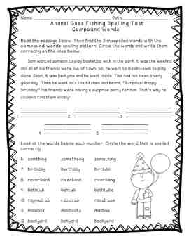 Reading Street: Unit 3 - Anansi Goes Fishing Spelling Word Blocks and Test