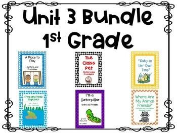 Unit 3 Bundle, Centers and Printables, 1st Grade, Reading Street