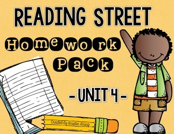 Reading Street Unit 4 Daily Homework