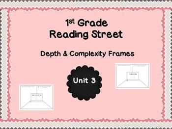 Reading Street Unit 3 Depth & Complexity Frames for 1st Grade