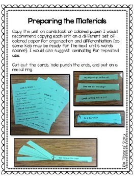 Emerging Readers Unit 3 Fluency Sentences