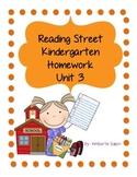 Reading Street Unit 3 Kindergarten Homework Pack