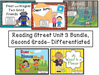 Reading Street Unit 3 Second Grade Bundle--Differentiated