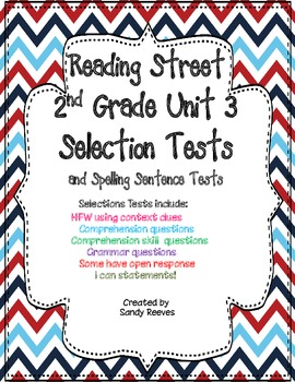 Reading Street Unit 3 Selection Tests 2nd Grade Pearl and