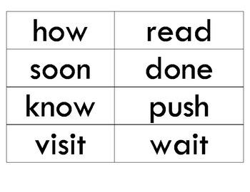 Reading Street Unit 3 Sight Words