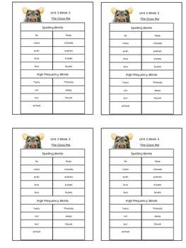 Reading Street Unit 3 Week 3 Spelling Packet