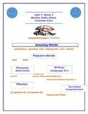 Reading Street Unit 3 Week 3 Weekly Skills Sheet George Washington Visits