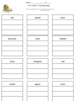 Reading Street Unit 3 Week 4 Spelling Packet