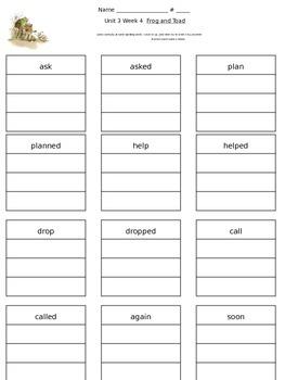 Reading Street Unit 3 Week 4 Spelling Packet