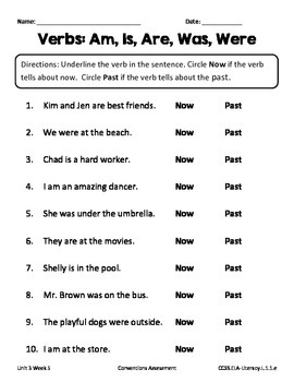 1st Grade Reading Street Unit 3 Week 5 Conventions Assessment