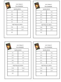 Reading Street Unit 3 Week 5 Spelling Packet