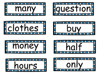 Reading Street Unit 3 Weeks 4-5 Word Wall Words