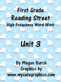 Reading Street Unit 3 Word Work