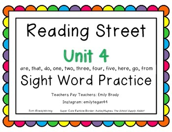 Reading Street Unit 4 Activities