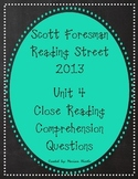 Reading Street Unit 4 Close Reading Comprehension - Grade 3