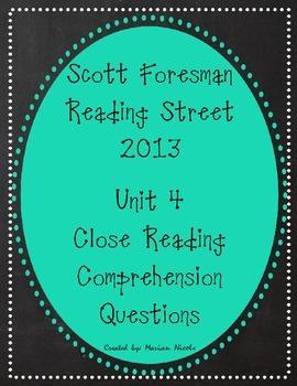 Reading Street Unit 4 Close Reading Comprehension - Grade 3