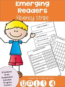 Emerging Readers Unit 4 Fluency Sentences (Aligned to Read
