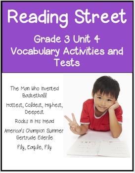 Reading Street Unit 4 Grade 3 Bundle