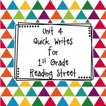 Unit 4 Quick Writes 1st Grade
