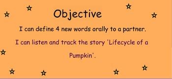 Reading Street Unit 4 Week 2: Lifecycle of a Pumpkin