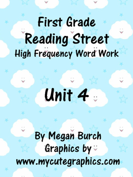 Reading Street Unit 4 Word Work