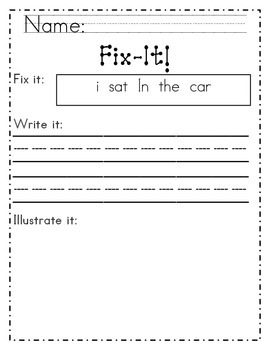 Reading Street Unit 4 fix-it work pages