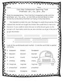 Reading Street: Unit 5 - Carl the Complainer Spelling Word Blocks and Test