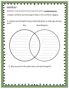 Reading Street Unit 5 Comprehension Questions – Grade 4