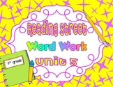 Reading Street Unit 5 Daily Word Work/Spelling Worksheets 1st Grade