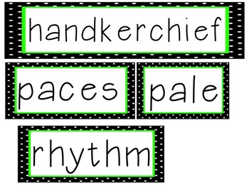 Reading Street Unit 5 High Frequency Words