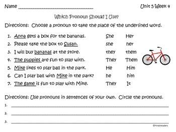 Reading Street Unit 5 Language Practice Sheets