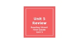 Reading Street Unit 5 Review- First Grade