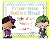 Reading Street Unit 5 Sight Word Readers