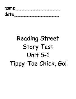 Reading Street Unit 5 Story Tests