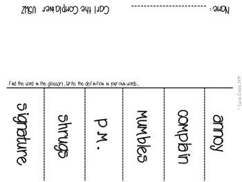 Reading Street Unit 5 Vocabulary Activities