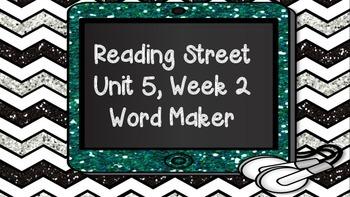 Phonics Word Maker Kindergarten - Aligned to Reading Street Unit 5 Week 2