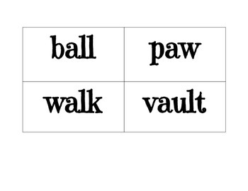 Reading Street Unit 5 Week 5 Vowel Pattern (aw, au, augh, al) Sort