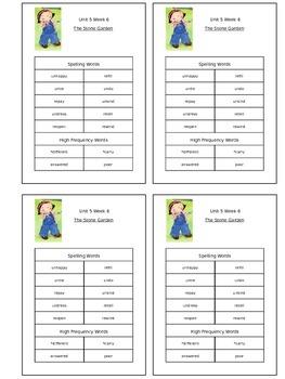 Reading Street Unit 5 Week 6 Spelling Packet
