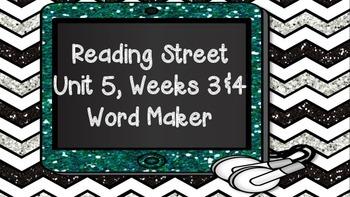 Phonics Word Maker Kindergarten - Aligned to Reading Street Unit 5 Weeks 3 and 4