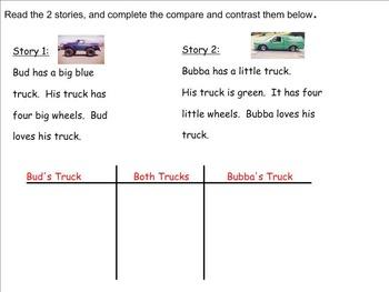 Reading Street Unit 5.3 Trucks Roll Day 1