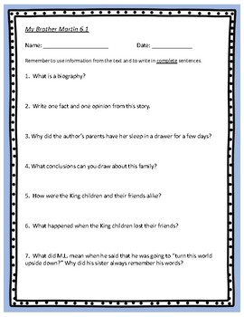 Reading Street Unit 6 Comprehension Questions – Grade 4
