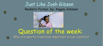 Reading Street Unit 6 Week 1: Just like Josh Gibson